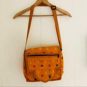 Vintage Textile Crossbody Bag